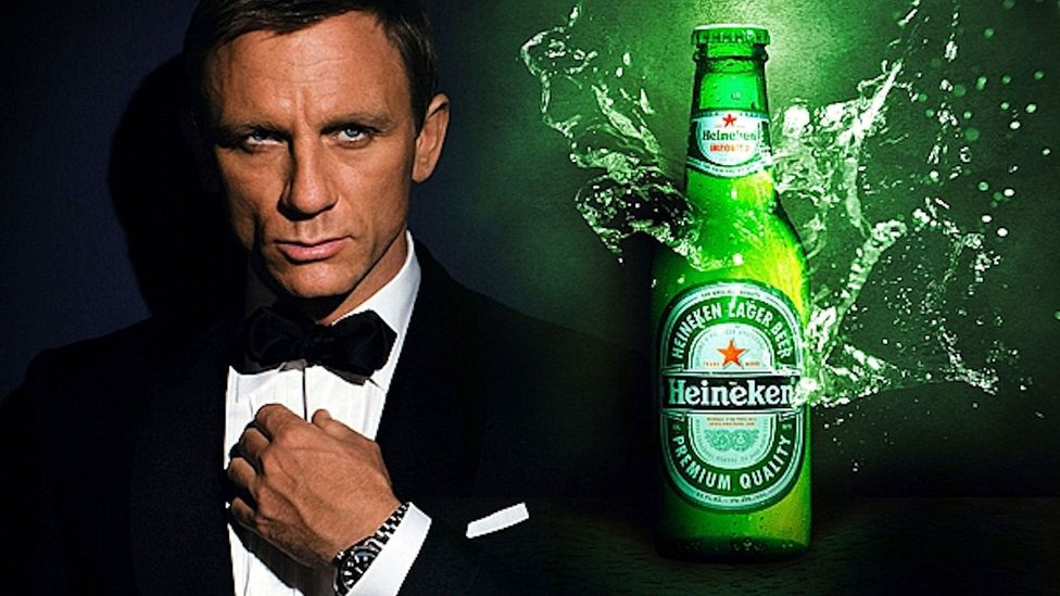 The exact amount is unclear but $45 million has been mentioned as the cost of Bond's swig of Heineken in Skyfall (Heineken)