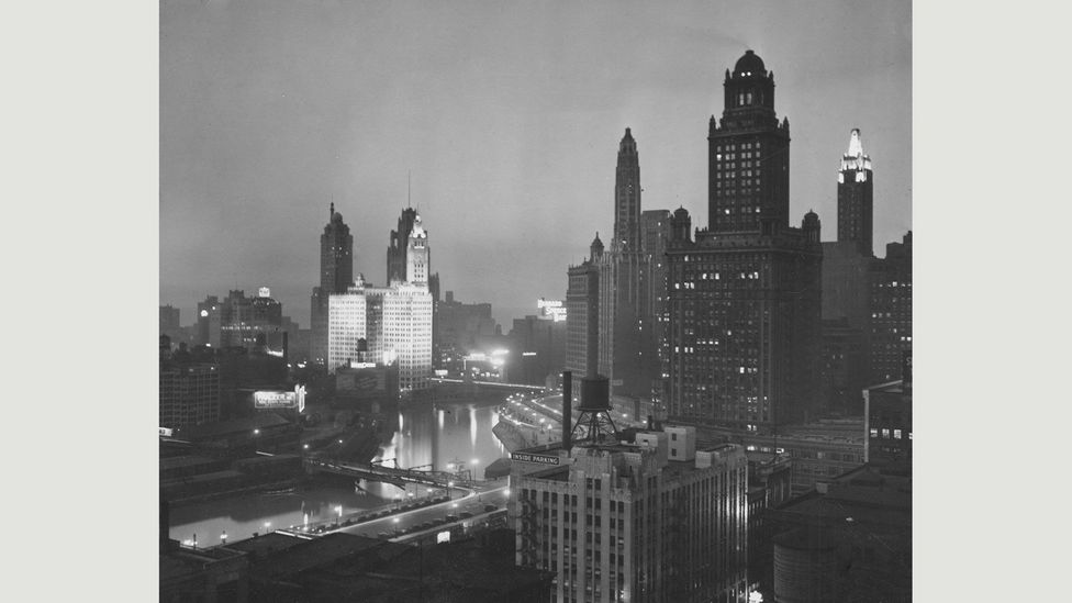 By 1925 the city had an impressive skyline that proclaimed Chicago's wealth and confidence (Credit: Chicago History Museum/Alamy)