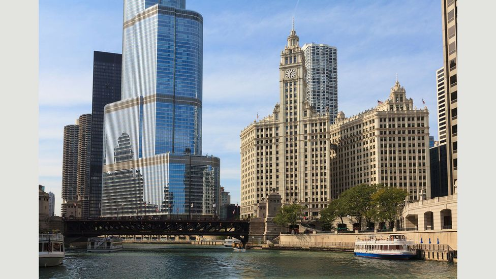 In 1920, work started on the Wrigley Building, named after the chewing gum manufacturer that made its headquarters there (Credit: Robert Harding World Imagery/Alamy Stock Photo)
