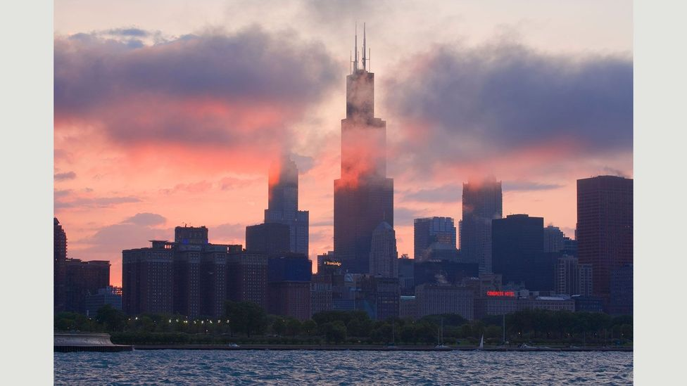 When it was completed in 1973, the Sears Tower (now called the Willis Tower) was the tallest building in the world (Credit: JLImages/Alamy Stock Photo)