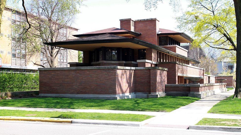 The Robie House was built between 1908-1910 by Frank Lloyd Wright and is the high watermark of the Prairie School of architecture (Credit: Raymond Boyd/Corbis)