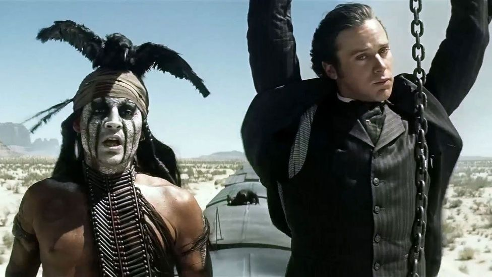 In 2013 there were complaints over the casting of Johnny Depp as the Native American Tonto in The Lone Ranger (Credit: Walt Disney Studios Motion Pictures)