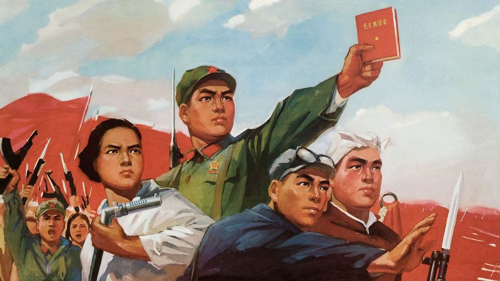 During the Cultural Revolution, the Mao suit was one of the only politically acceptable garments to wear – it was a uniform for the Red Guards (Credit: GraphicaArtis/Getty Images)
