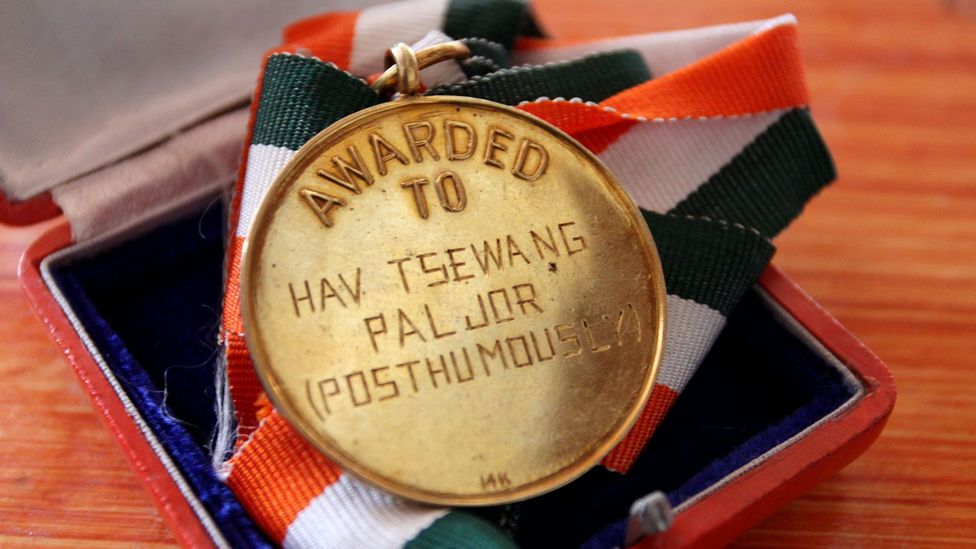 A medal awarded after Paljor's death