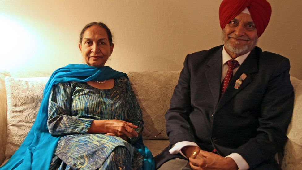 Mohinder Singh and his wife at their home outside of San Francisco