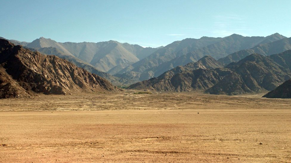 We passed dusty, otherworldly plains on our journey