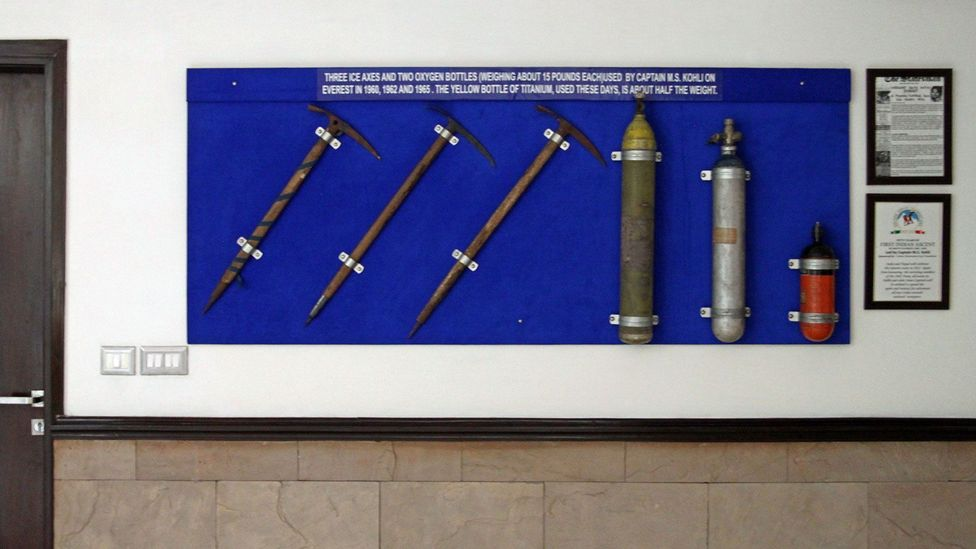 Equipment used by Captain MS Kohli on Everest ascents