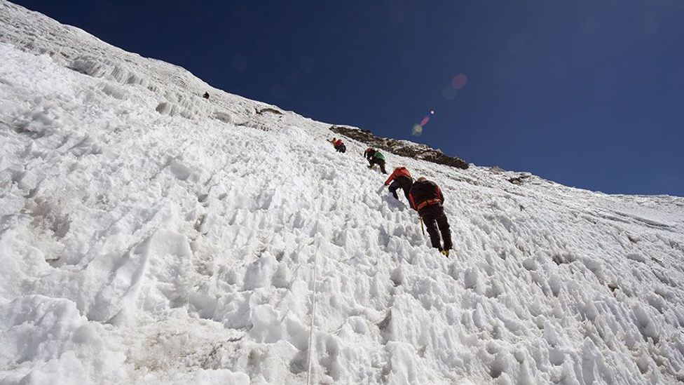 In their quest to reach the top, many climbers get 'summit fever', disregarding risks (Credit: Rex)