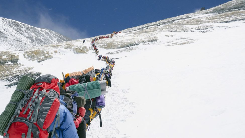 Professional climbers often insist that their drive differs from that of the majority of clients who pay to climb Everest (Credit: Rex)