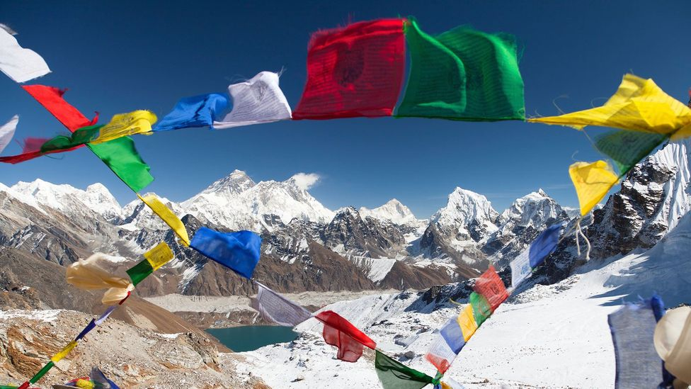 Prayer flags strung up to bless the surroundings (Credit: iStock)