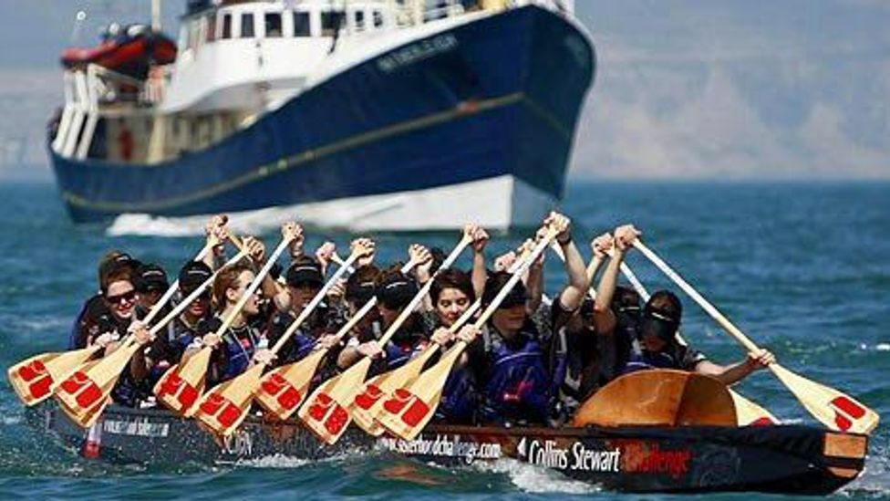 Natalie Sisson has broken a world record for Dragon Boat racing across the English Channel. (Credit: Max Cisotti)