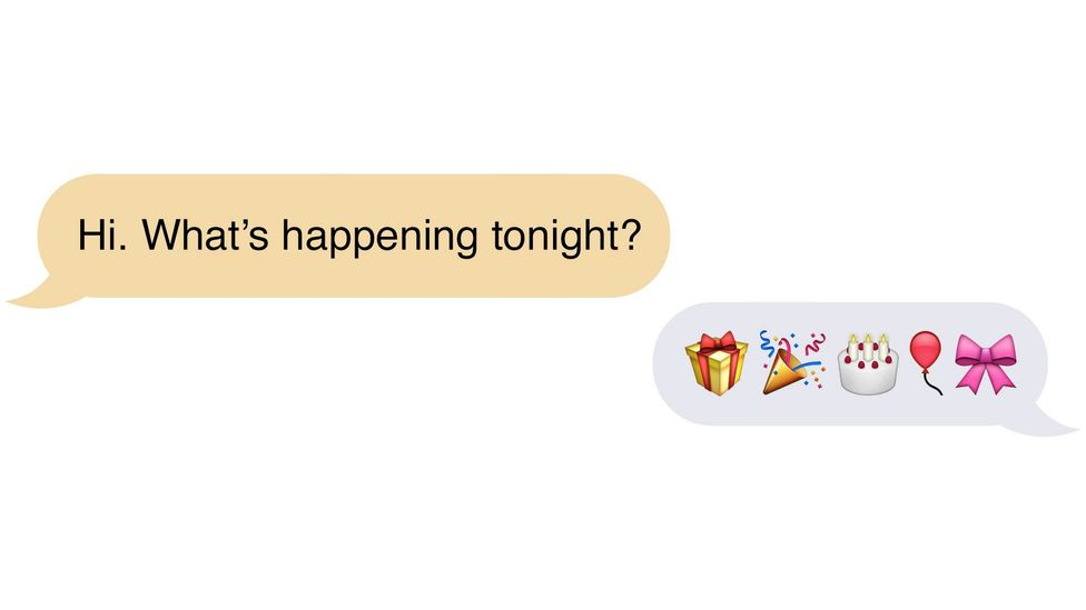 These emoji could be arranged in any order and still convey the same meaning (Credit: Neil Cohn/Adam Proctor)