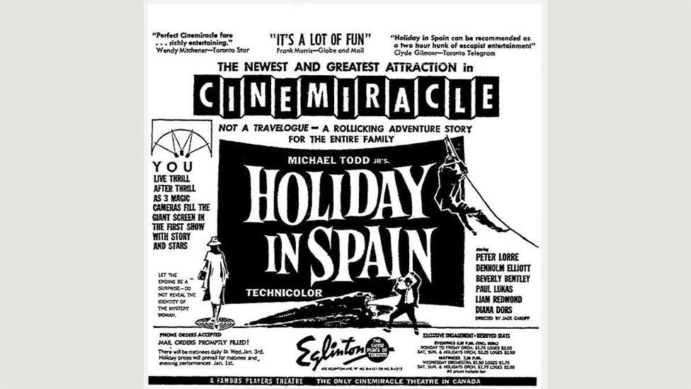 After audiences dismissed the Smell-O-Vision of Scent of Mystery as a gimmick it was re-released in an odourless version called Holiday in Spain (Credit: Redwind Productions)