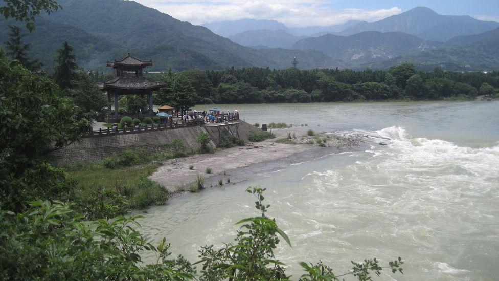 Dujiangyan, built by ancient engineer Li Bing more than 2,000 years ago, is still in use (Credit: Philip Ball)