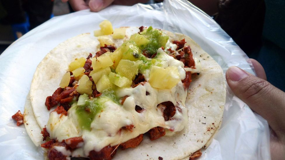 Add cheese and you get a gringa taco (Credit: Ron Dollete/Taco al pastor con queso/Flickr/CC BY-ND 2.0)