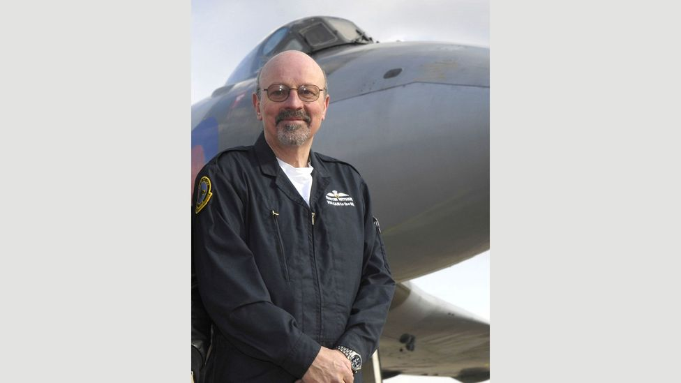 Chief pilot Martin Withers (pictured) says the 37-tonne bomber is a joy to fly (Credit: Vulcan to the Sky Trust)