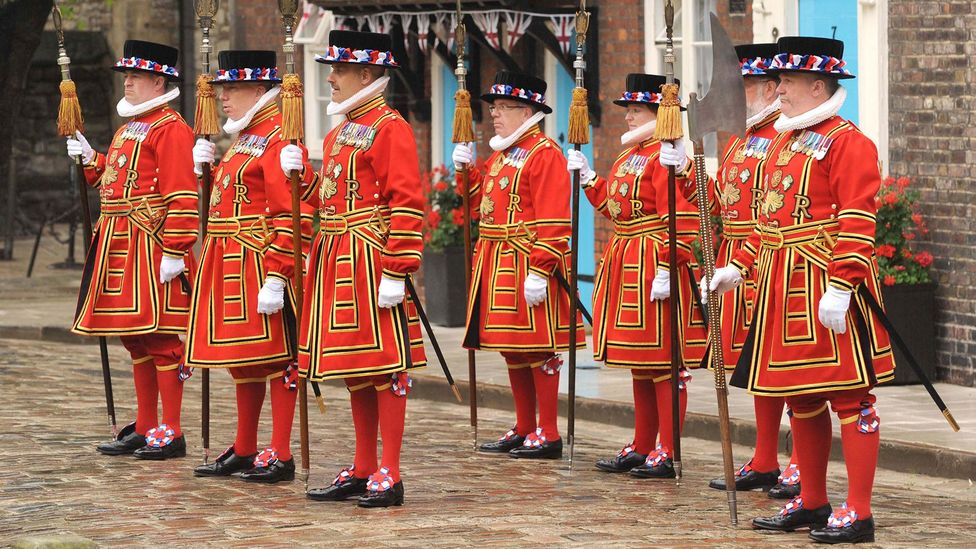 The Beefeaters wear Tudor state dress at the State Parade for Her Majesty's Diamond Jubilee in 2012 (Credit: Nick Wilkinson/Newsteam/Historic Royal Palaces)
