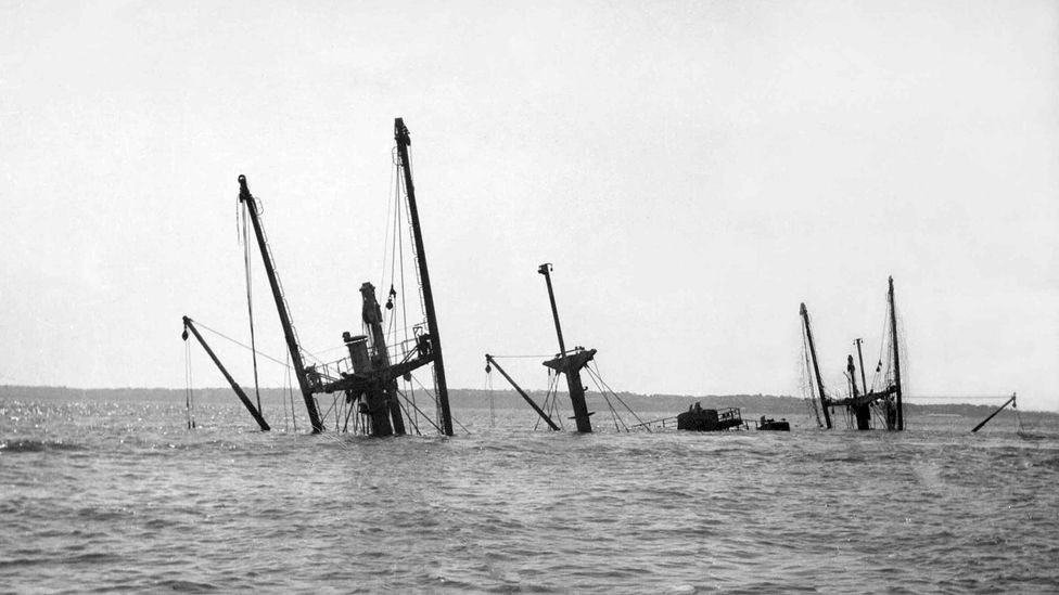 The wreck of the SS Richard Montgomery, pictured in 1966 (Credit: Colin Harvey)
