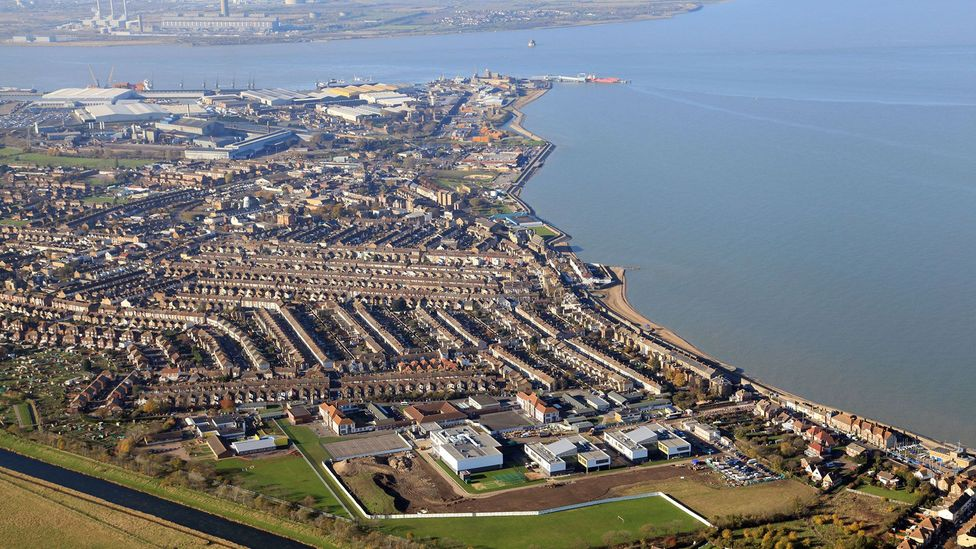 If the ship's bombs go off, the town of Sheerness, pictured here, could be levelled (Credit: APS (UK)/Alamy Stock Photo)