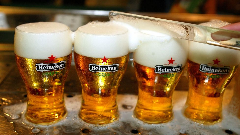 Heineken used the idea of 'refreshment' for the very first time in British beer advertising, a game-changer for lager consumption in the UK (Credit: Getty Images)