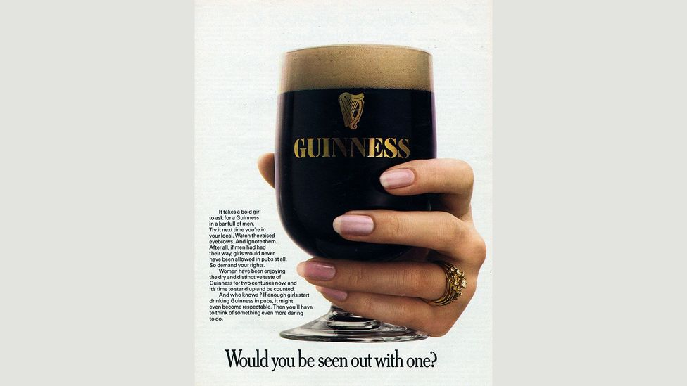 'It takes a bold girl to ask for a Guinness', says this 1970s advertisement (Credit: Heritage Image Partnership Ltd/Alamy Stock Photo)