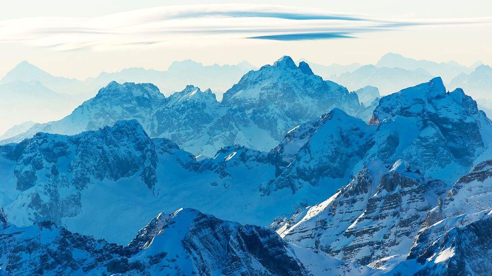 Time stands still as snow shrouds the horizon in the Julian Alps (Credit: Matevž Lenarčič)