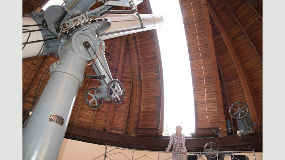 Maia Tordua has been working at the observatory since the 1980s (Credit: Maurice Wolf)
