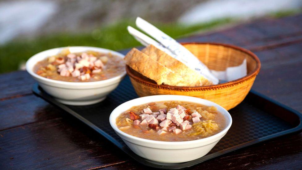 Jota, a bean and sauerkraut stew, is a traditional Slovenian dish (Credit: imageBROKER/Alamy)