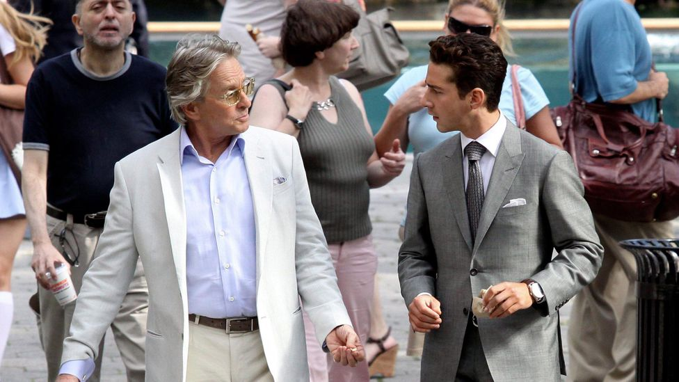 Michael Douglas and Shia LaBeouf in Wall Street: Money Never Sleeps (Credit: Corbis)