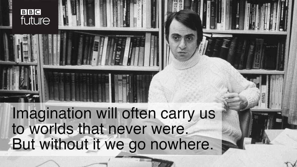 Taken from the opening passages of Sagan's Cosmos (1980), he recognised the importance of engaging the public in thinking about the Universe (Credit: Getty Images/William Park)