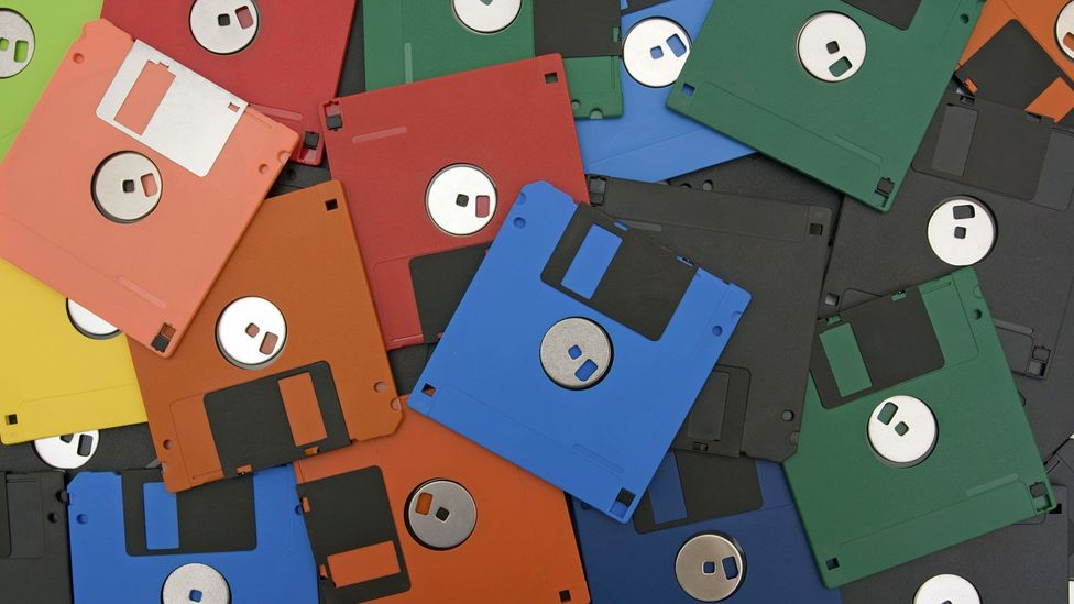 Floppy disks were by far the most popular way of transferring data between computers before the age of CDs (Credit: iStock)