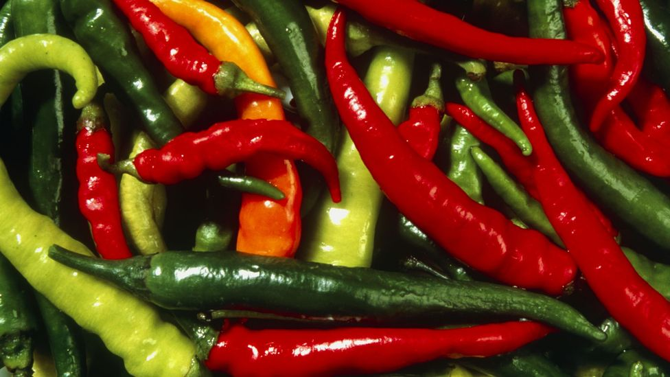 The capsaicin in chillis can also cause a feeling similar to pins and needles (Credit: Science Photo Library)