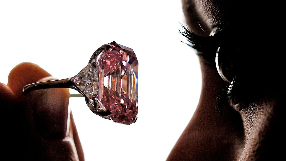 Pink diamonds come in a range of shades. (Credit: Getty Images)