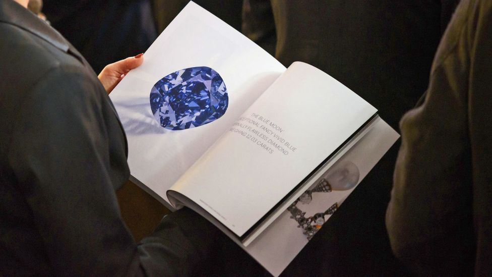 This rare blue diamond sold for a record $48.5m at auction. (Credit: Getty Images)