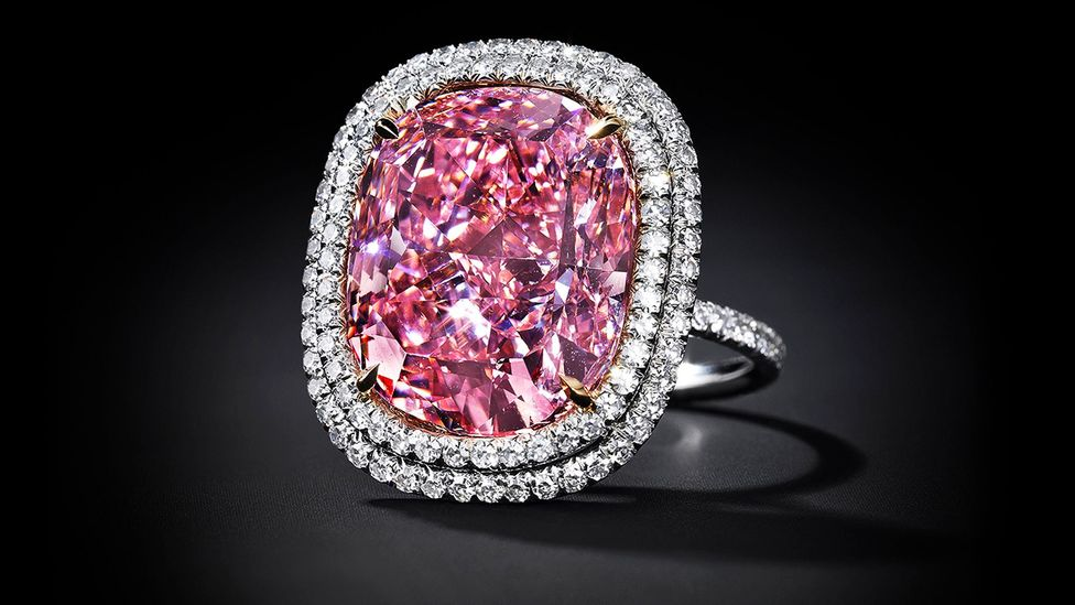 Known simply as the PINK, this 16.08 carat stone is expected to fetch between $23m and $28m at auction. (Credit: Christie's)