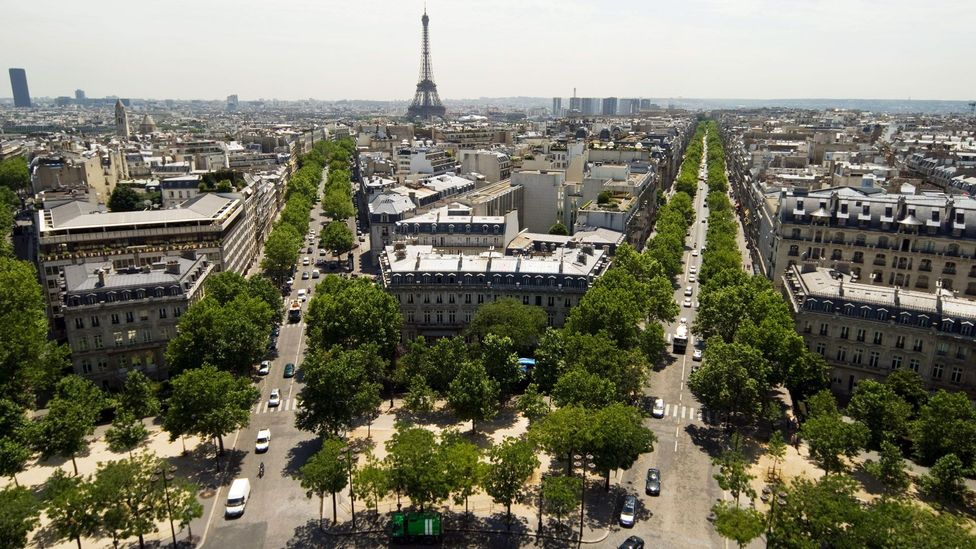 An aerial view of Paris (Credit: Image Source/Alamy)
