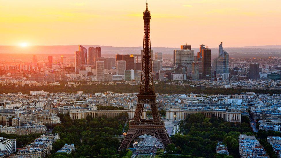 An aerial view of Paris (Credit:John Kellerman/Alamy)
