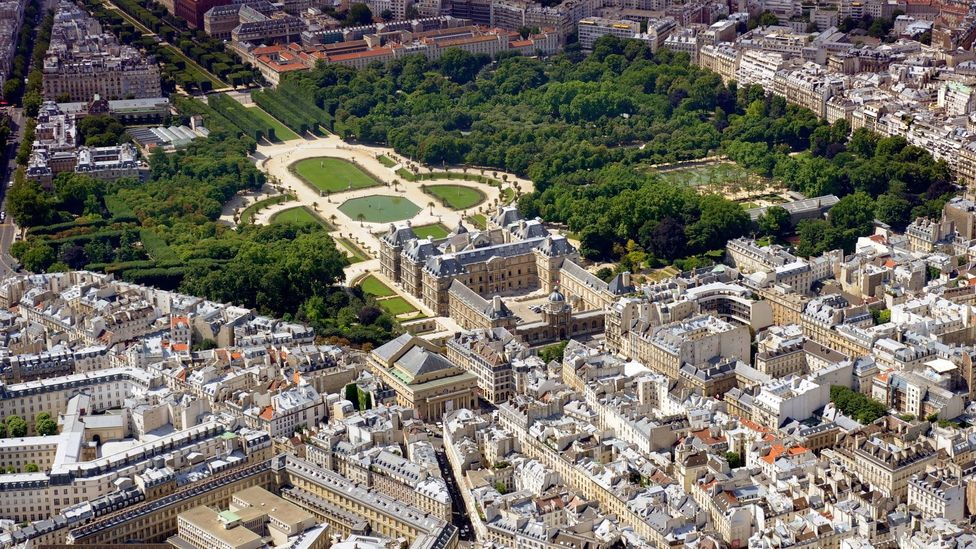 An aerial view of the Jardin du Luxembourg (Credit: Boris Horvat/AFP/Getty Images)