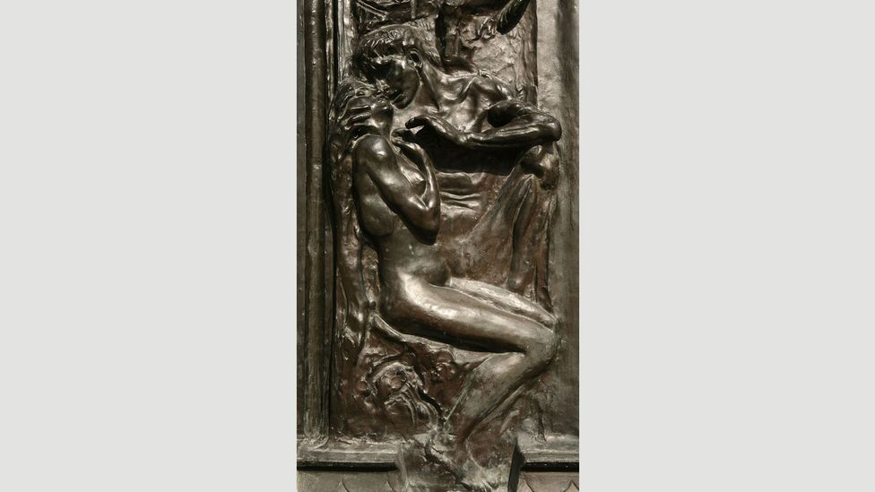 Rodin initially represented the illicit passion of Paolo and Francesca as a relief sculpture for bronze doors (Credit: VPC Photo/Alamy Stock Photo)