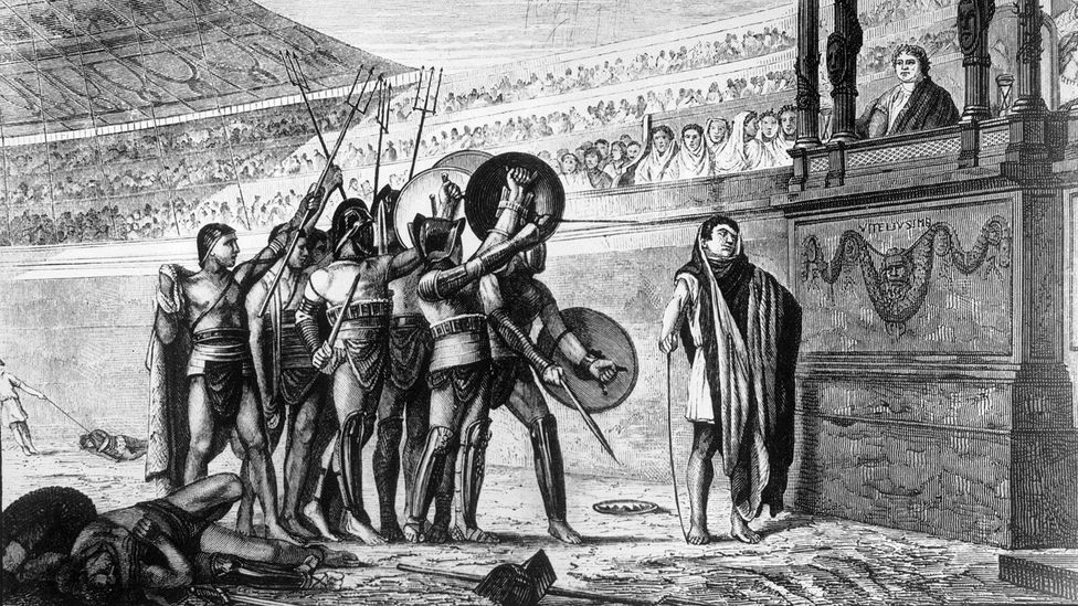The foundation myth of Rome features the city's first king, Romulus, killing his brother Remus – some think that legitimised the idea of to-the-death fights (Credit: Getty Images)