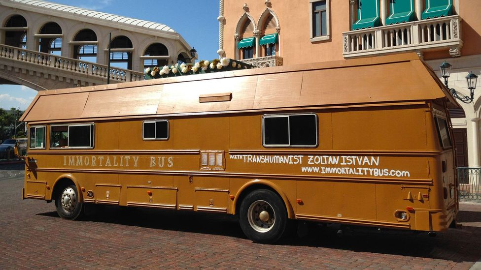 It might be a publicity stunt, but for Istvan there's a serious point behind the Immortality Bus (Credit: Zoltan Istvan)