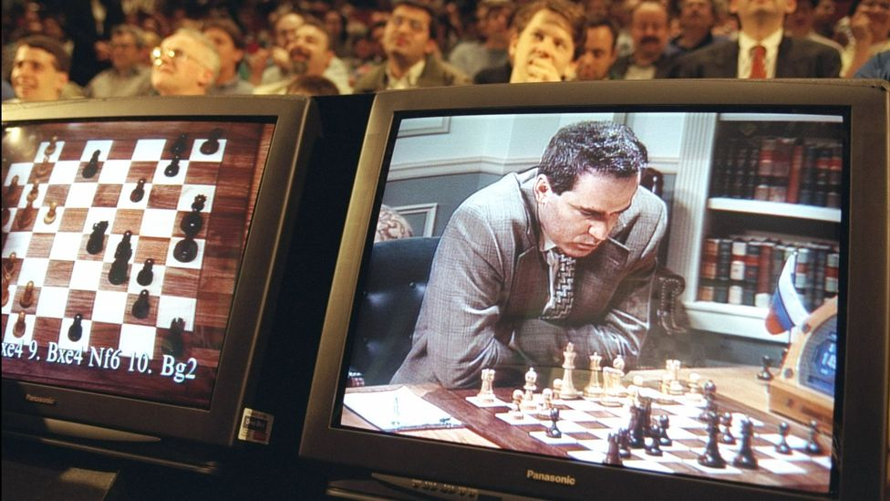 Chess champion Garry Kasparov was first beaten by a computer, Deep Blue, in 1997 (Credit: Getty Images)