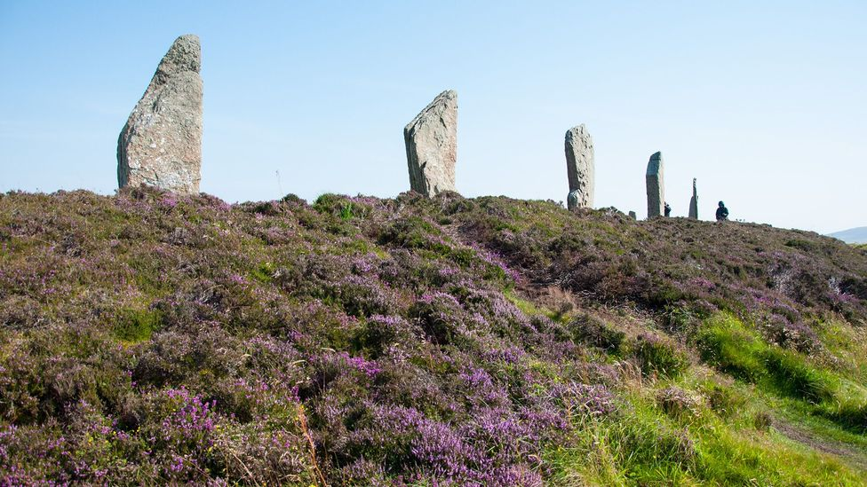 The ditch of the Ring of Brodgar was cut 9m wide and 3m deep through bedrock (Credit: Amanda Ruggeri)