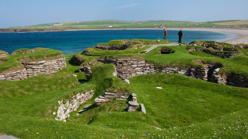The houses at Skara Brae had insulation, furniture and even what's thought to be Britain's earliest toilet ever discovered (Credit: Amanda Ruggeri)