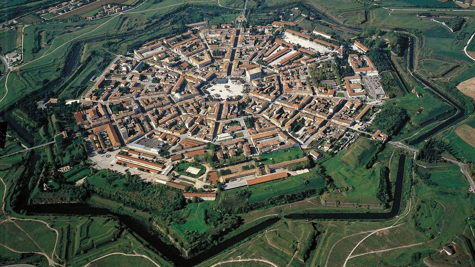 Palmanova in Italy is built in the shape of a nine-pointed star with streets that radiate from its centre (Credit: Universal Images Group/DeAgostini /Alamy Stock Photo)