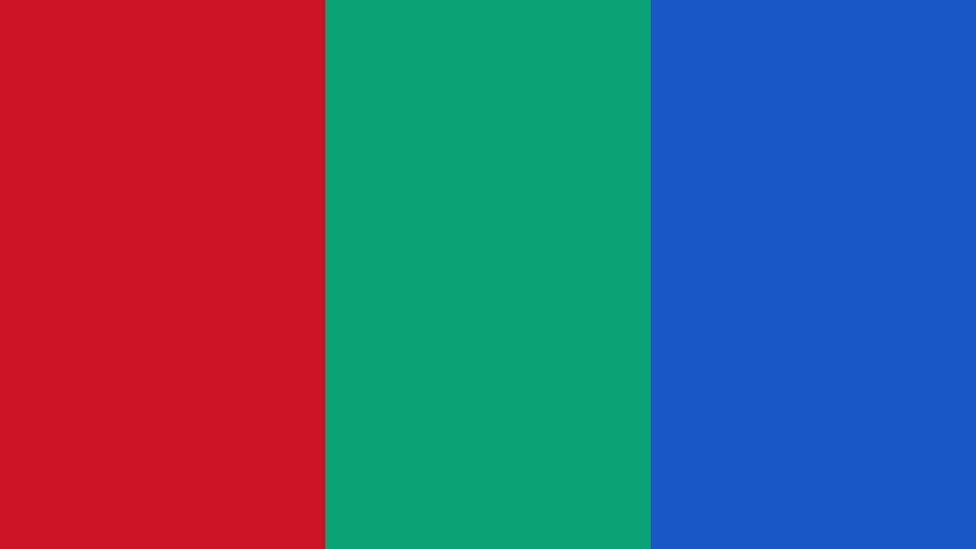 An unofficial flag of Mars, designed by scientist Pascal Lee in the 1990s (Credit: Anakin/Wikipedia)