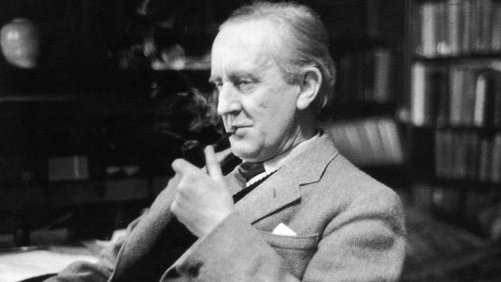 Tolkien, seen here in his study at Merton College, Oxford, was a fundamentally backward-looking person (Credit: Haywood Magee/ Stringer)