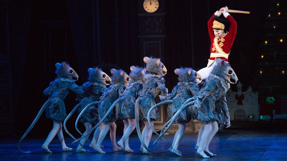 The battle scene from Act One of the ballet sees the Nutcracker take on the Mouse King's army (Credit: Alamy)