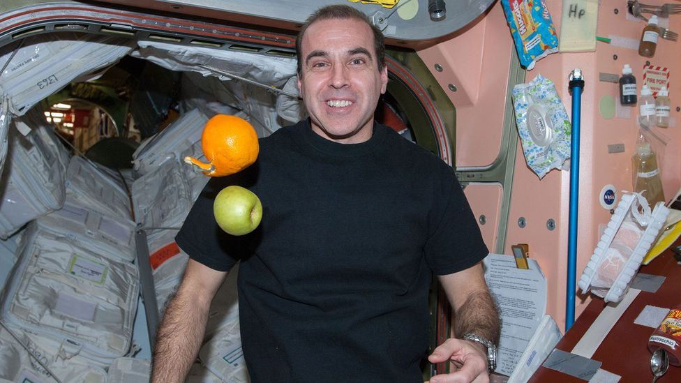 Not every moment on the ISS is scheduled – allowing the astronauts some free time (Credit: Nasa)