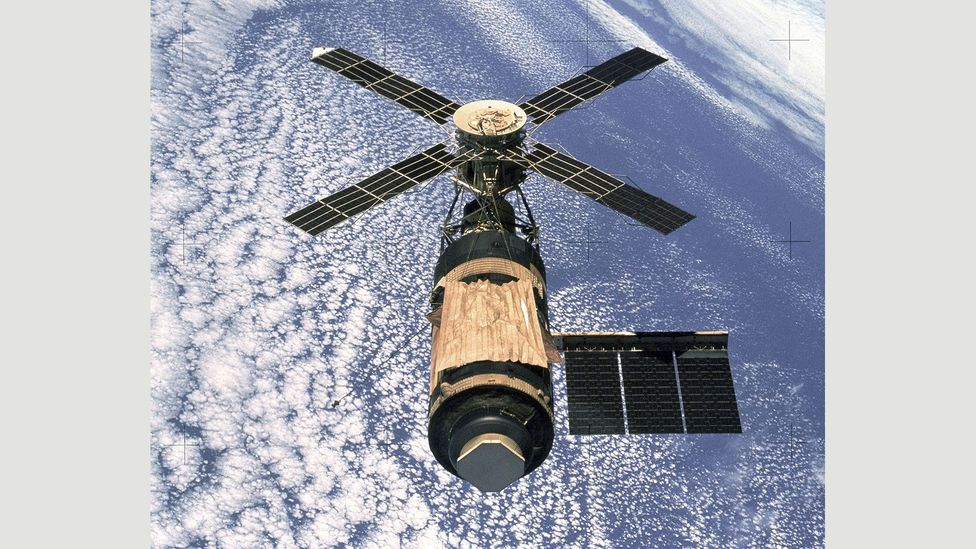 Compared to cramped capsules, Skylab was like being 'in a house' (Credit: Nasa)